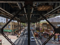 Underneath the IRT Flushing Line at Woodside- St