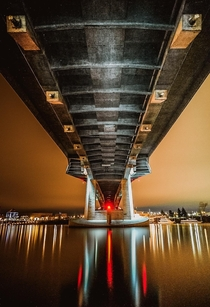 Underneath the Tilikum Crossing Portland OR  ireddit