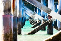 Underneath Urangan Pier in Hervey Bay - Australia