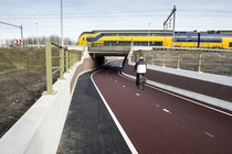 Underpass for bicycles in Utrecht Netherlands