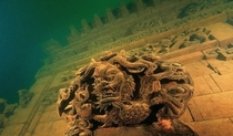 Underwater ruins of Schicheng in China
