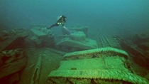 Underwater tank graveyard off the coast of Donegal Ireland