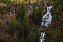 Undine Falls in Yellowstone National Park
