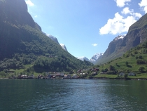 Undredal Norway a small village along Nryfjord