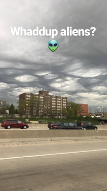Unfiltered Alien Clouds in Chicago IL