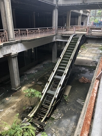 Unfinished abandoned mall in St Lucia
