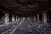 Unfinished cave work in Ellora India