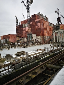 Unfinished Chernobyl reactor  and