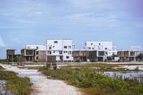 Unfinished condominium complex in Ambergris Caye Belize