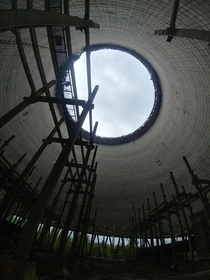 Unfinished cooling tower - Chernobyl