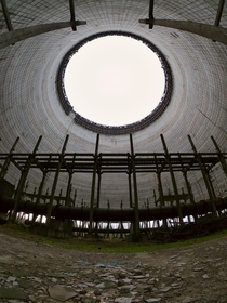 Unfinished cooling tower No at the Chernobyl Nuclear Power Plant