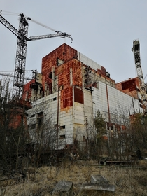 Unfinished Reactor  in the Chernobyl Exclusion Zone