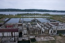 Unfinished remains of arnowiec Nuclear Power Plant Poland