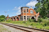 Union Station in Lockport New York Constructed in  for the New York Central Railroad The station closed in the late s