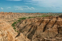 Unique Landscape of the Badlands SD