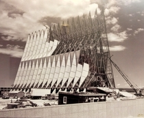 United States Air Force Academy Cadet Chapel Under Construction Ca
