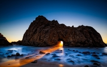 United States of America Sunset at Pfeiffer State Beach in Big Sur California says photographer Chip Morton