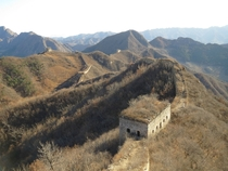 Unmaintained section of the Great Wall of China  by uiwazaruu