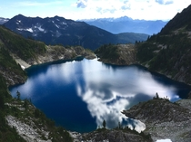 Unnamed beep blue lake in South Western British Columbia Canada