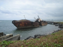 Unnamed wreck abandoned in Port of Buchanan Liberia