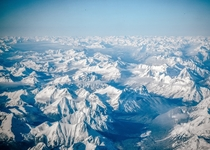 Unreal mountain view from my flight to Calgary Alberta Canada