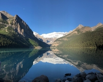 Unreal Reflection on Lake Louise in Banff National Park