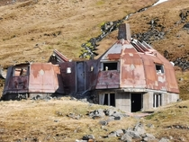 Unregistered observatory abandoned by unknown researchers of unknown national origin Iceland