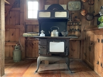 Untouched vintage kitchen in an old tiny house