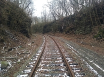 Unused train tracks just east of Pittsburgh PA  x