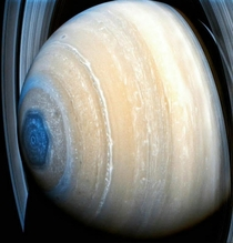 Unusual hexagonal cloud pattern surrounding Saturns north pole CreditNASA JPL-Caltech SSI Maksim Kakitsev