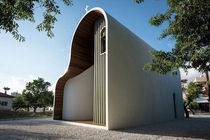 Unusual-looking Greek Orthodox chapel in Paphos Cyprus by Michail Georgiou