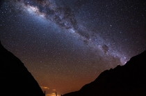 Unzipped the tent and was greeted with this night sky Salkantay Trek Machu Picchu