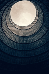 Up the cooling tower