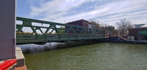 UPDATE Not a Bridge for Ants Closer view of lift bridge over Erie Canal Brockport New York