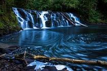Upper Beaver Falls near Clatskanie Oregon