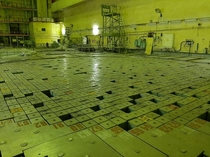 Upper biological shield of the reactor hall Reactor No Chernobyl nuclear power plant Pripyat Ukraine - visited yesterday