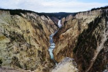 Upper Falls and the Grand Canyon of the Yellowstone Yellowstone National Park WY
