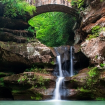 Upper Falls Hocking Hills State Park Ohio
