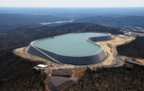 Upper Reservoir Dam of Taum Sauk Pumped-Storage Hydroelectric Plant in Annapolis Missouri