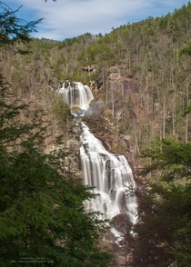 Upper Whitewater Falls  Nantahala National Forest - North Carolina USA
