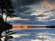 Upside-Down Extremely Still Lake - Moosehead Lake Maine USA  OC my_mom