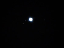 Uranus and  of its moons