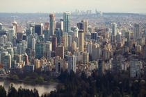 Urban density in Vancouver Canada