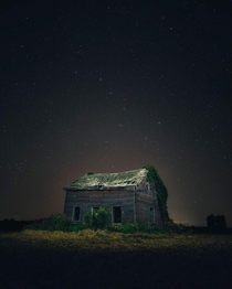 Ursa Major over an old abandoned house