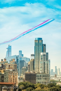US amp UK Fighter Jets over NYC