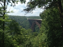 US  at New River Gorge Bridge the fourth longest single span arch bridge