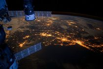 US Mid-Atlantic Coast at night from International Space Station
