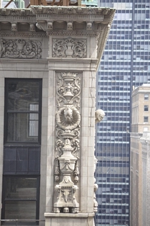 USA-NYC Shot of the elaborate terra cotta cornice embellishment on the lost  E nd St by Warren amp Wetmore Destroyed to build One Vanderbilt