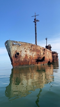 USAS American Mariner decaying out in the Chesapeake Bay
