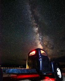Used some light painting on this truck in the ghost town of Rhyolite Nevada great place for night shooting